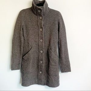 Marmot Button Down Wool Blend Jacket Gray Small